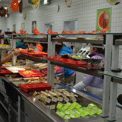 improving the school lunch A nationwide push to improve the quality of school lunches is  school lunches improving  high school supporters of the healthy lunch program say.