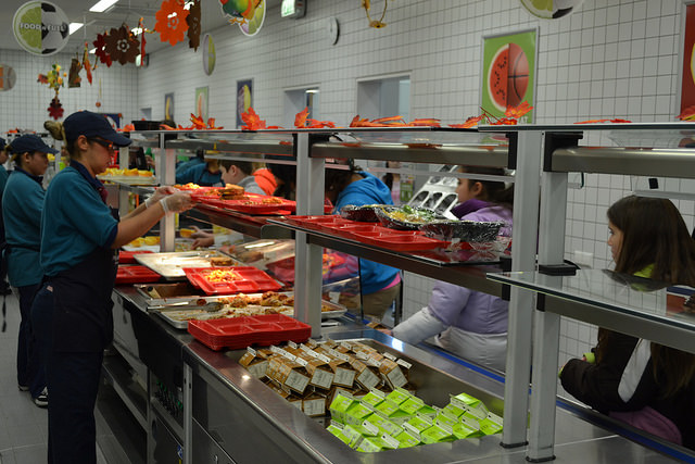 School lunch prices at all Department of Defense Education Activity schools outside the continental United States will increase because of rising operational costs and to comply with federal law. Pictured is Netzaberg Middle School in Germany. Photo Credit: AAFES