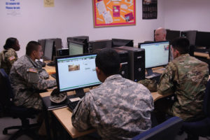 Hohenfels Education Center has several amenities for Soldiers and DOD personnel, including computer labs and extra classrooms. Photo by Lorain Ambroci, Hohenfels Education Center staff writer.