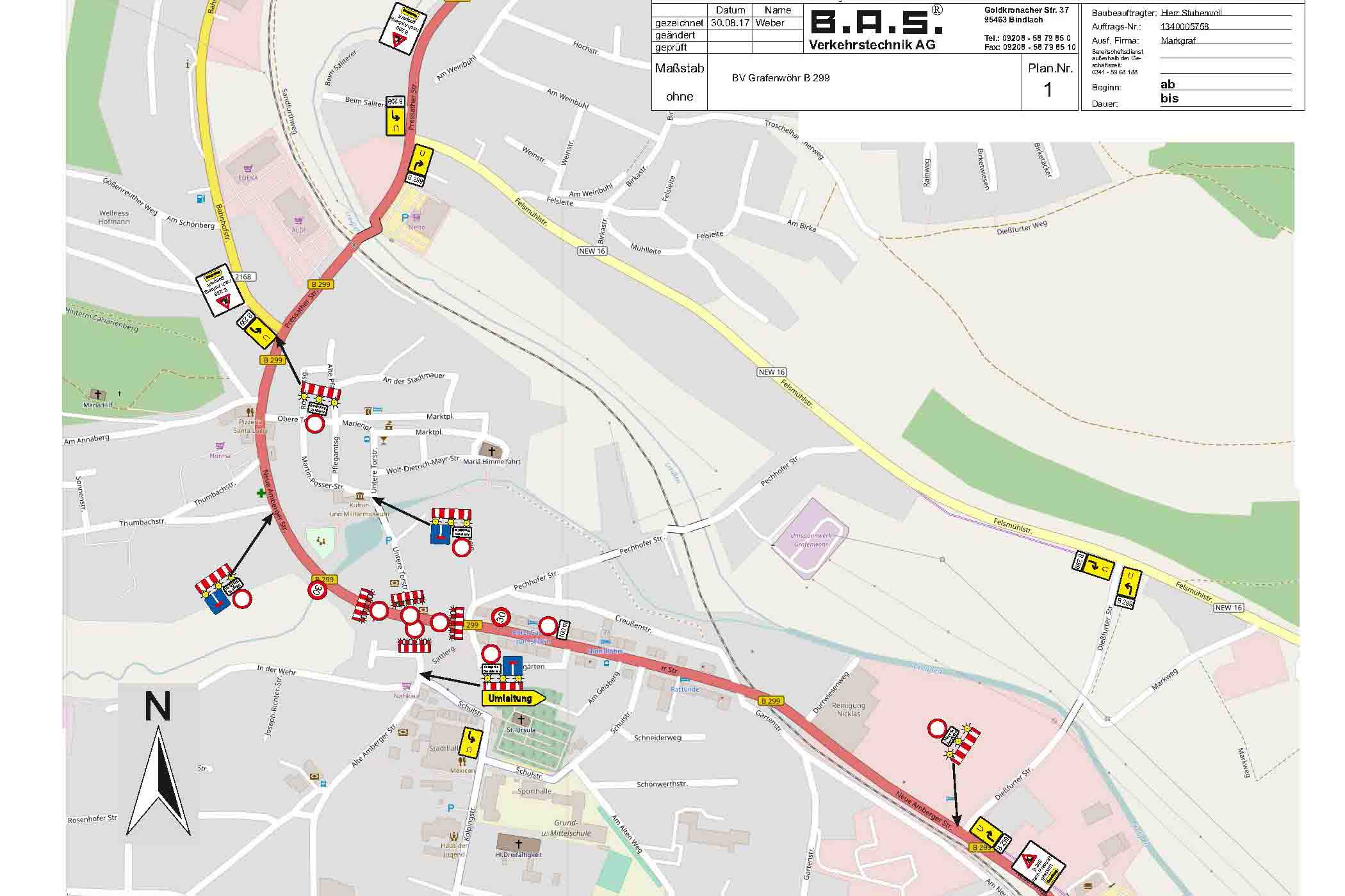 CLOSURE City Of Grafenwoehr Central Intersection Closed Sept - Germany map grafenwoehr